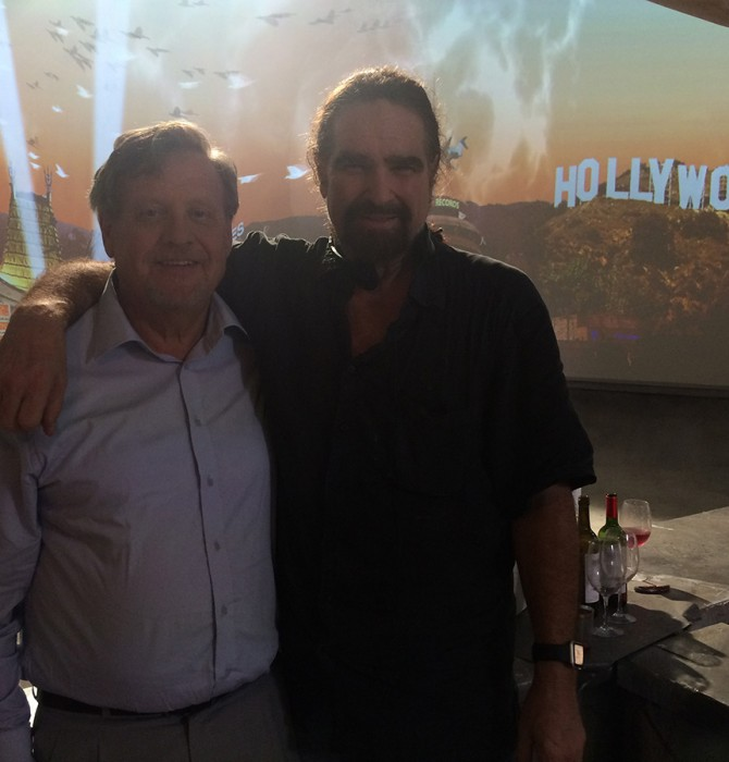 """Filmning Hollywood Rooftop L.A. July 2018-The Icon director/Hollywood """"25 producer"""" Brett Leonard"""